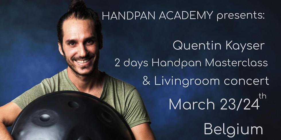 2 days handpan masterclass & concert with Quentin Kayser