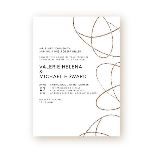 Simple Swirls Wedding Invitation