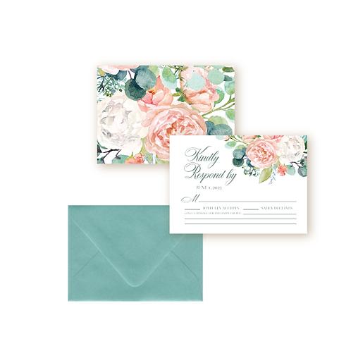 Elegant Spring Florals Wedding Response Card