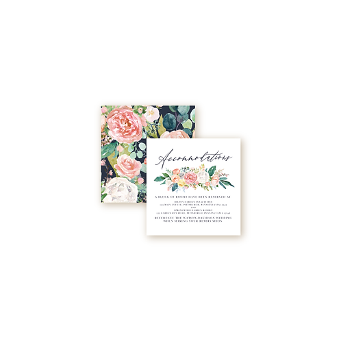 Romantic Spring Garden Accommodations Insert Card