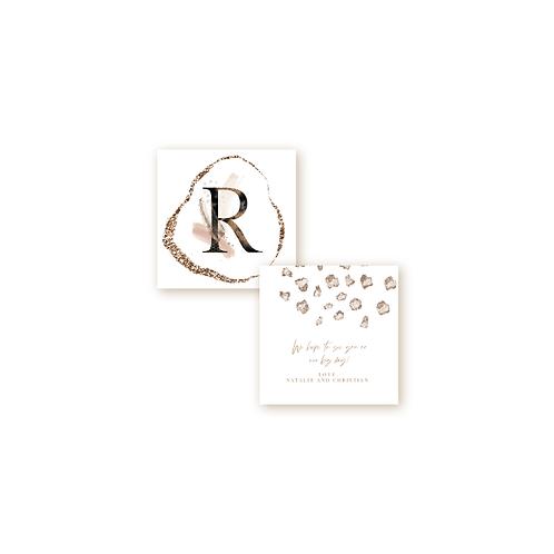 Elegant Glitter Monogram Insert Card