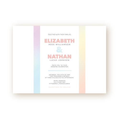 Colorful Minimalist Wedding Invitation