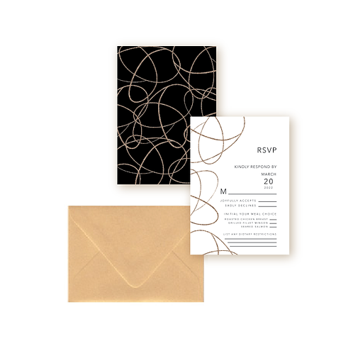 Simple Swirls Wedding Response Card