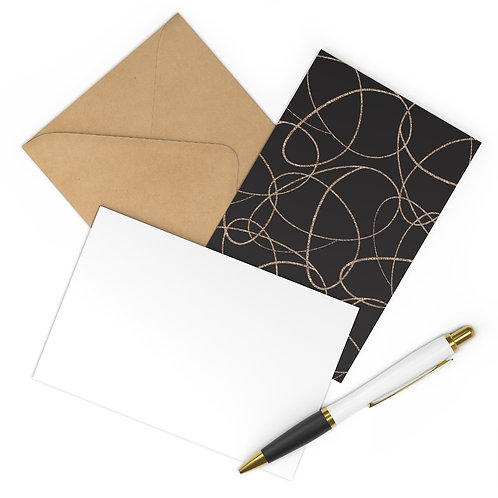 Simple Swirls Blank Postcards (7 pcs)