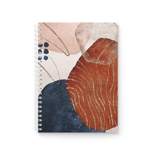 Abstract Desert Sunset Spiral Notebook
