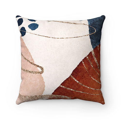 Abstract Desert Sunset Faux Suede Square Pillow