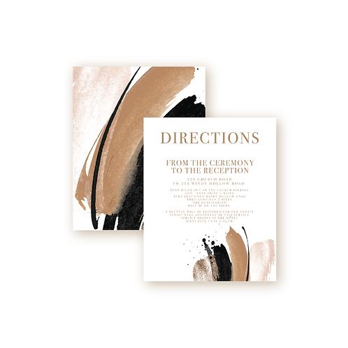 Elegant Glitter Directions Insert Card