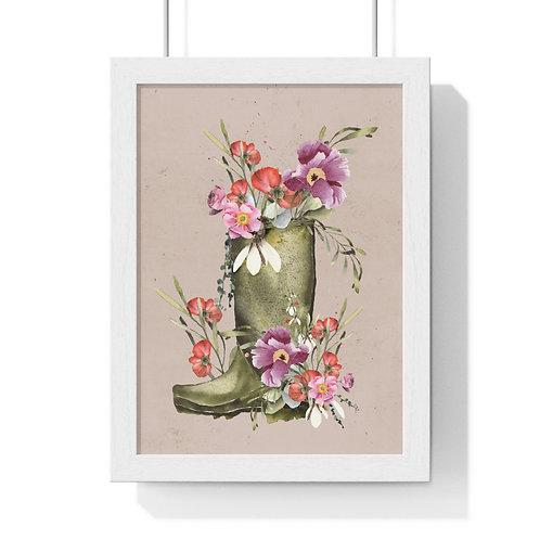 Garden Rain Premium Framed Vertical Poster