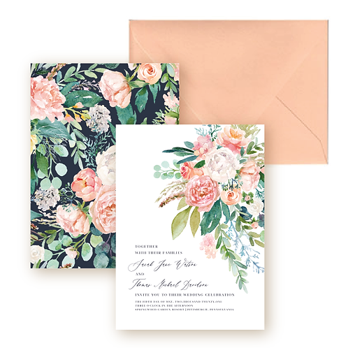 Romantic Spring Garden Wedding Invitation Suite