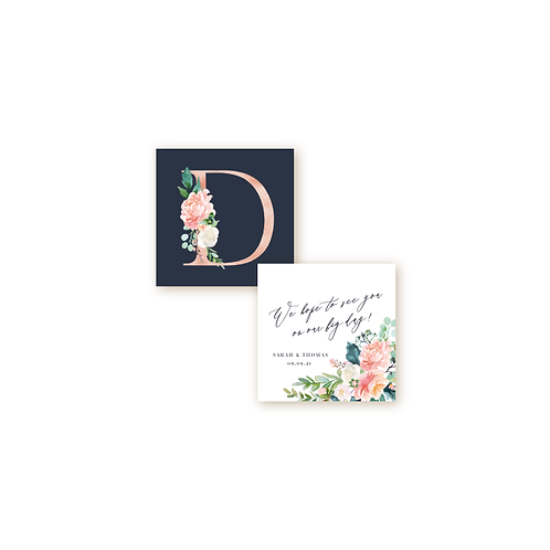 Romantic Spring Garden Monogram Insert Card