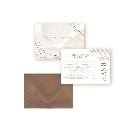 Elegant Glitter Wedding Response Card