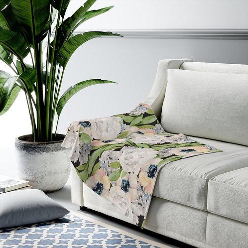 Garden Florals Velveteen Plush Blanket