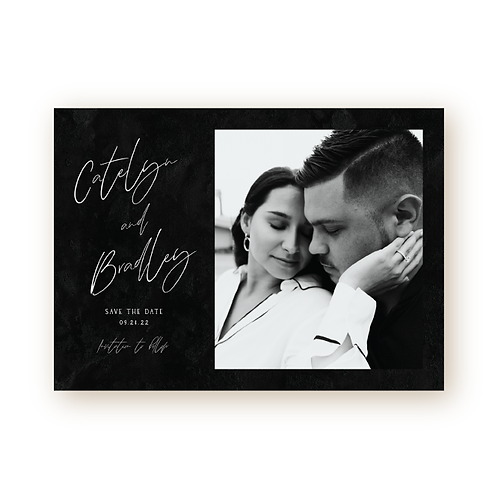 Chic Romance Save the Date Card with Photo