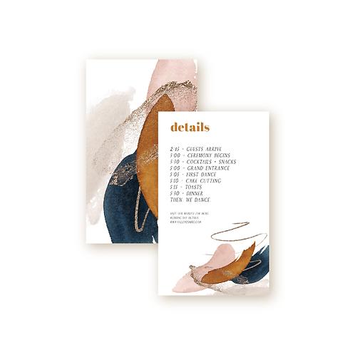 Abstract Desert Sunset Details Insert Card