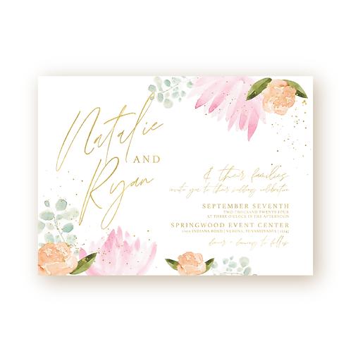Bright Garden Wedding Invitation