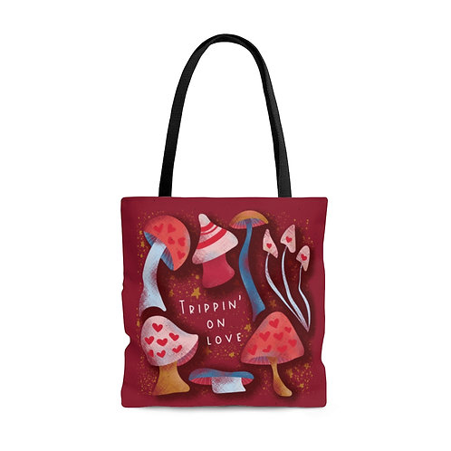 Large Trippin' On Love Tote Bag