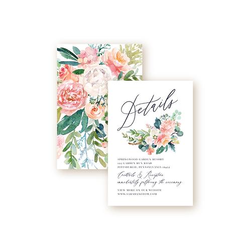 Romantic Spring Garden Details Insert Card