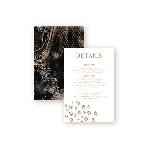 Elegant Glitter Details Insert Card