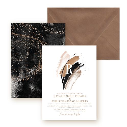 Elegant Glitter Wedding Invitation Suite