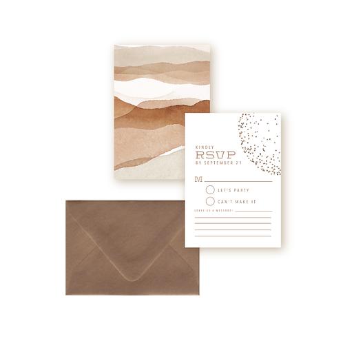 Elegant Desert Sands Wedding Response Card