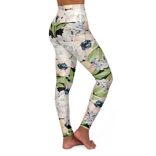 Garden Florals High Waisted Yoga Leggings