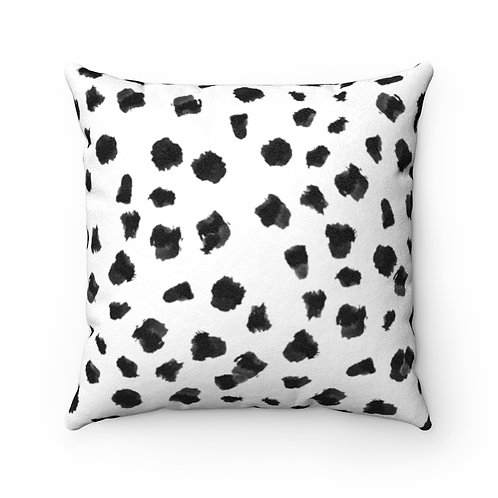 Chic Confetti Faux Suede Square Pillow