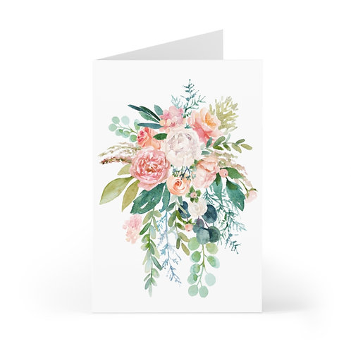 Spring Florals Greeting Cards (7 pcs)