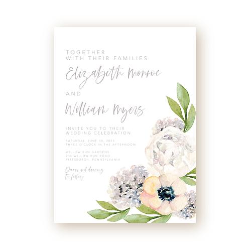Classic Garden Florals Wedding Invitation