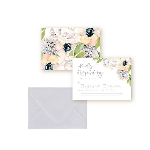 Classic Garden Florals Wedding Response Card