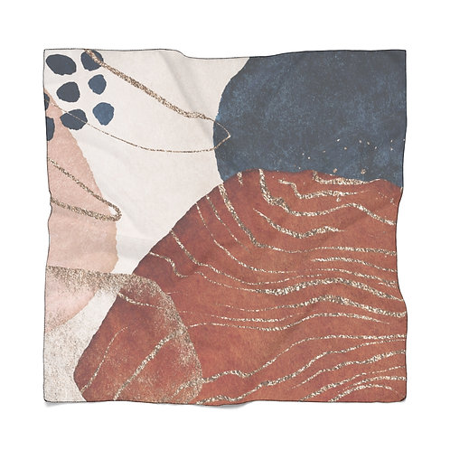 Abstract Desert Sunset Poly Scarf