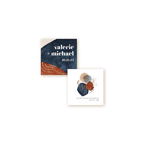 Abstract Desert Sunset Monogram Insert Card