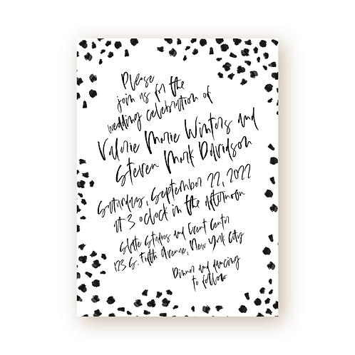 Minimalist Chic Confetti Wedding Invitation