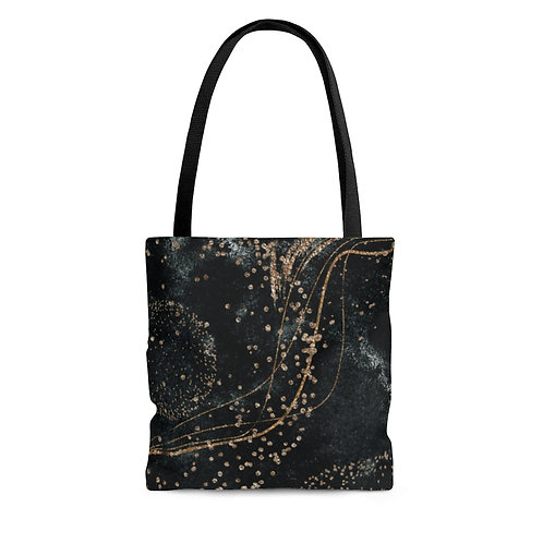 Elegant Glitter & Flare Tote Bag