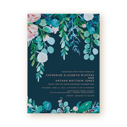 Spring Foliage Wedding Invitation