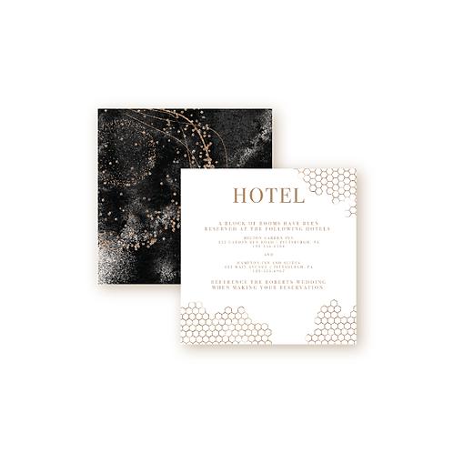 Elegant Glitter Hotel Info Insert Cards