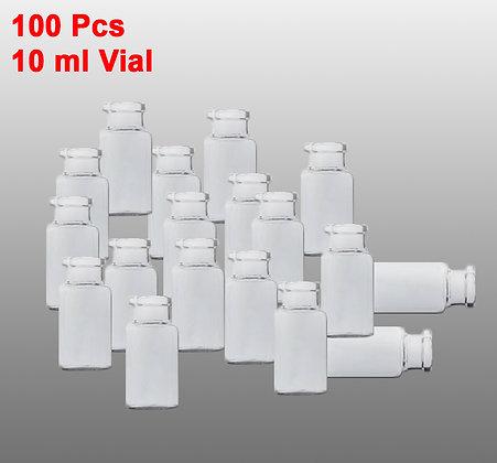 VIALES VIDRIO 10ml 24X50 (100Pcs)
