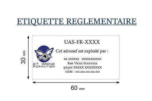 ETIQUETTE REGLEMENTAIRE DRONE