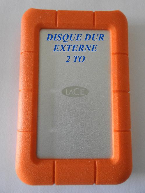 DISQUE DUR EXTERNE LACIE 2 TO