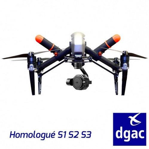 DJI INSPIRE 2 HOMOLOGUE S1-S2S-3 + X7