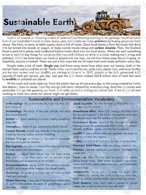 Sustainable Earth - Digital Download - Elementary