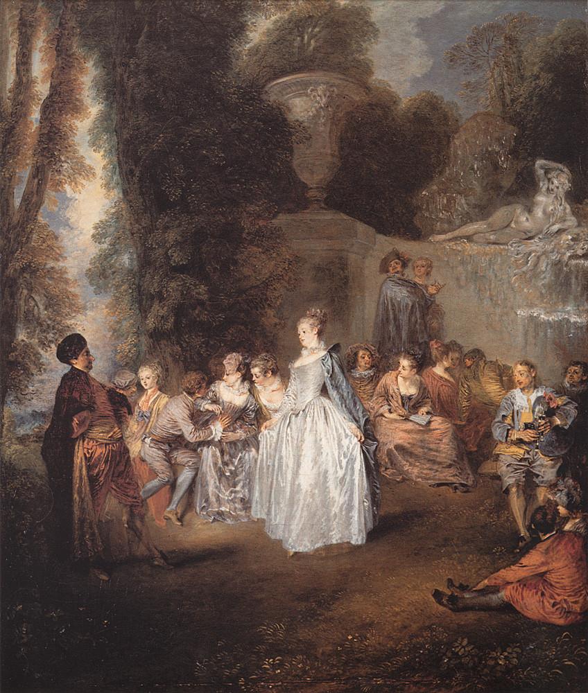 Watteau: Les Festes vénitiennes, Édimbourg, National Gallery of Scotland