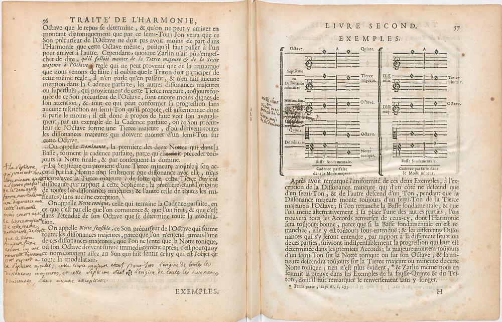 Le traité de l'Harmonie, annoté de la main de Ramau