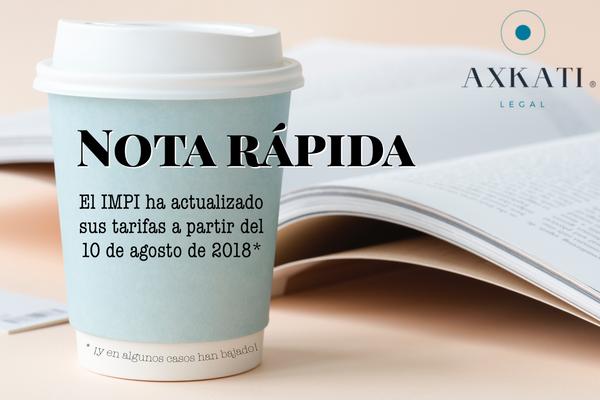 El IMPI fija nuevas tasas de gobierno