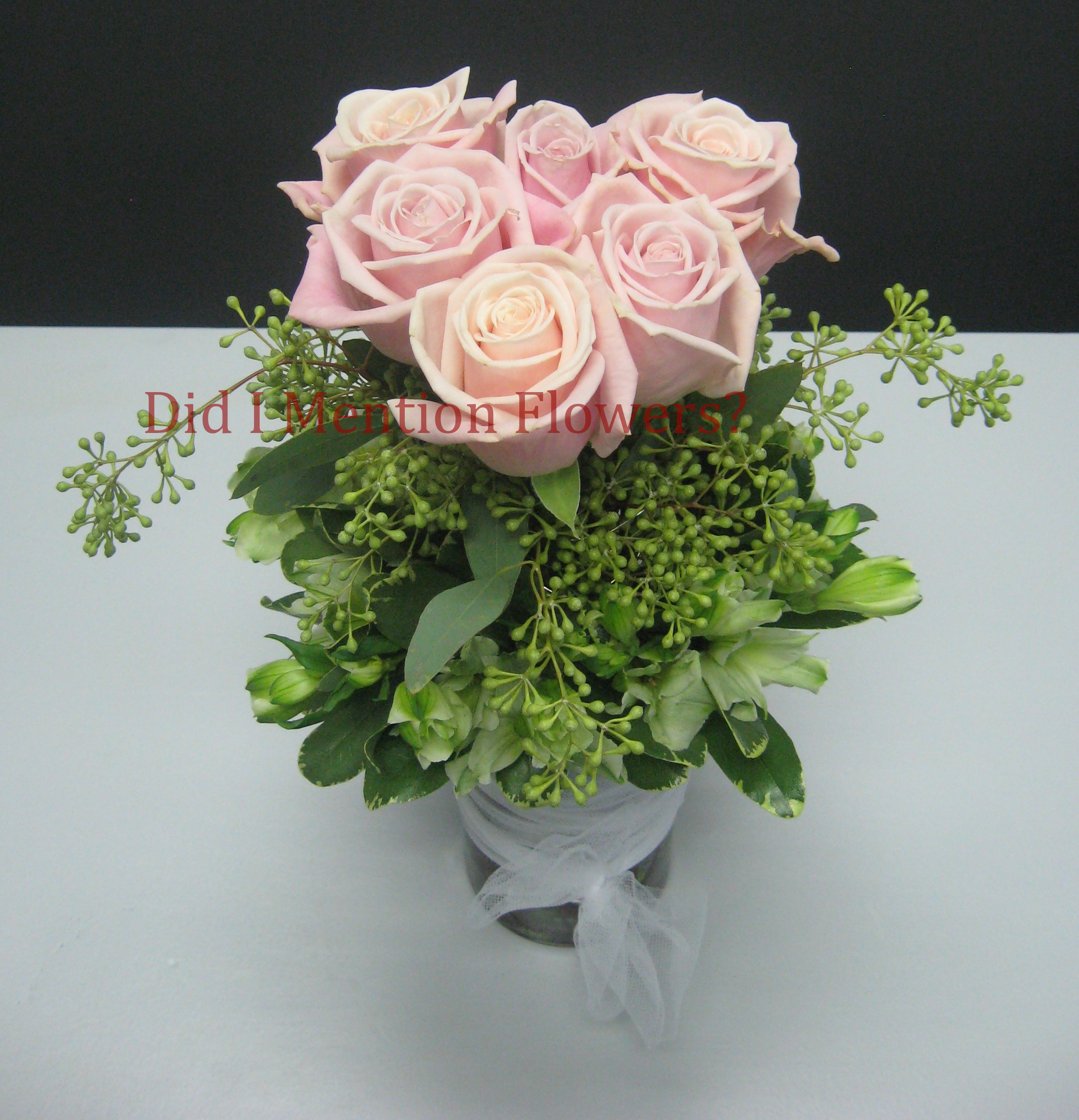 16 - Six Pack of Love Rose Vase Arrangement