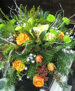 4 - Fresh Floral Christmas Centrepiece