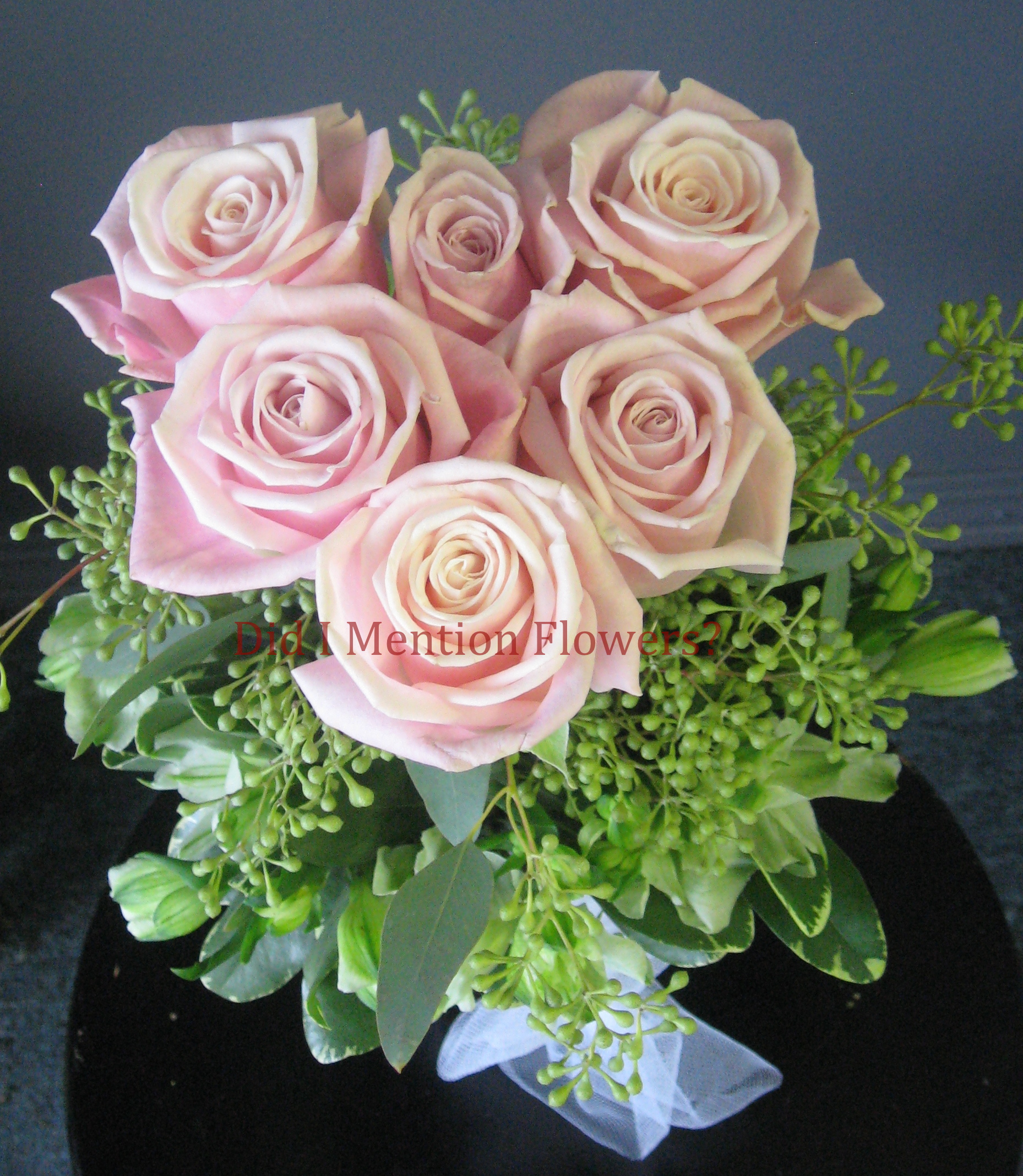 11 - Six Pack of Love Rose Vase Arrangement