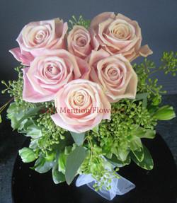11 - Six Pack of Love Rose Vase Arrangement