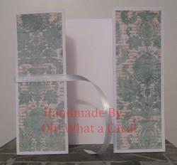 7 - Light Blue Flowers Shutter-Fold Card