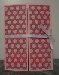 4 - Pink Dots Shutter-Fold Card