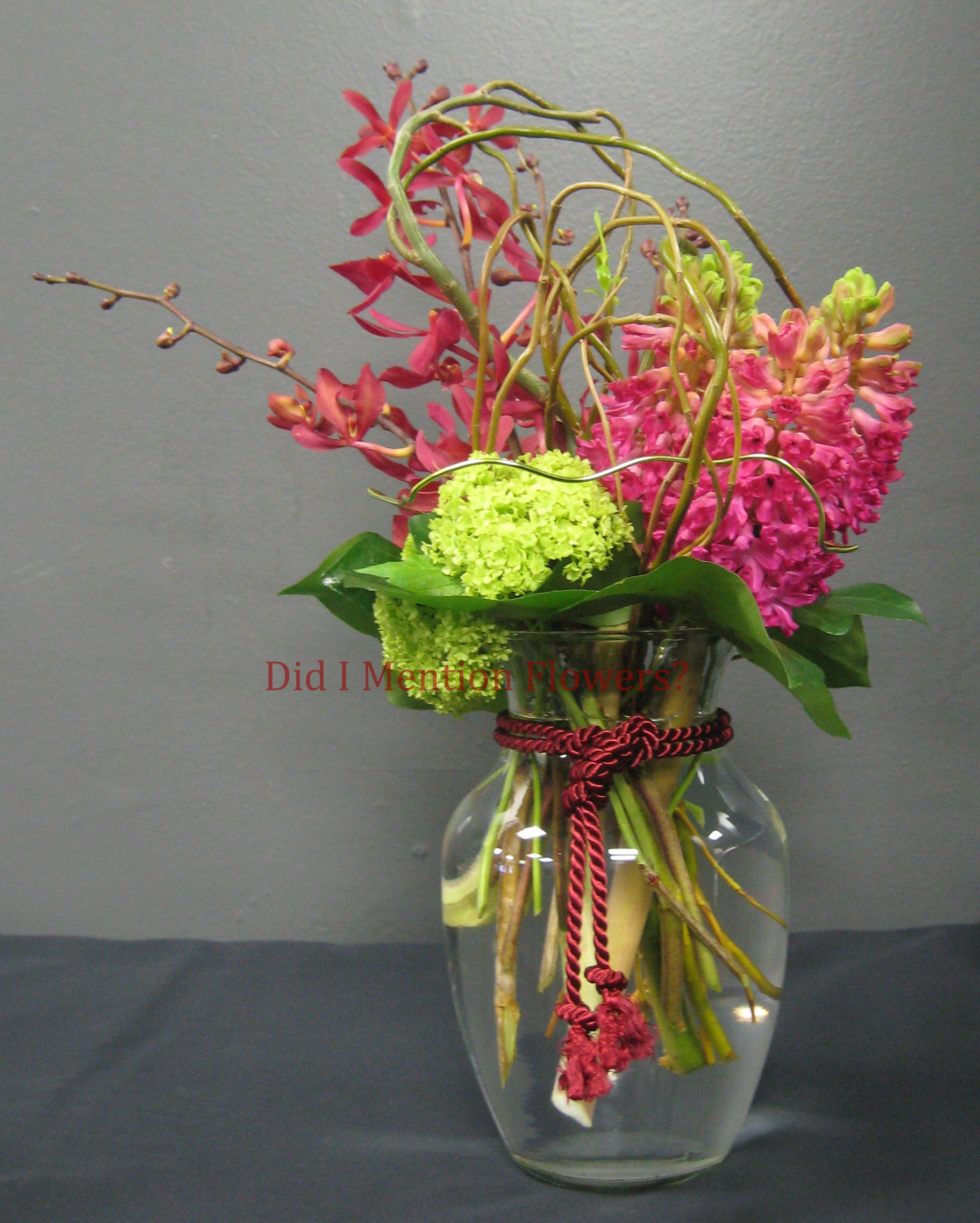 7 - Glass Vase Arrangement